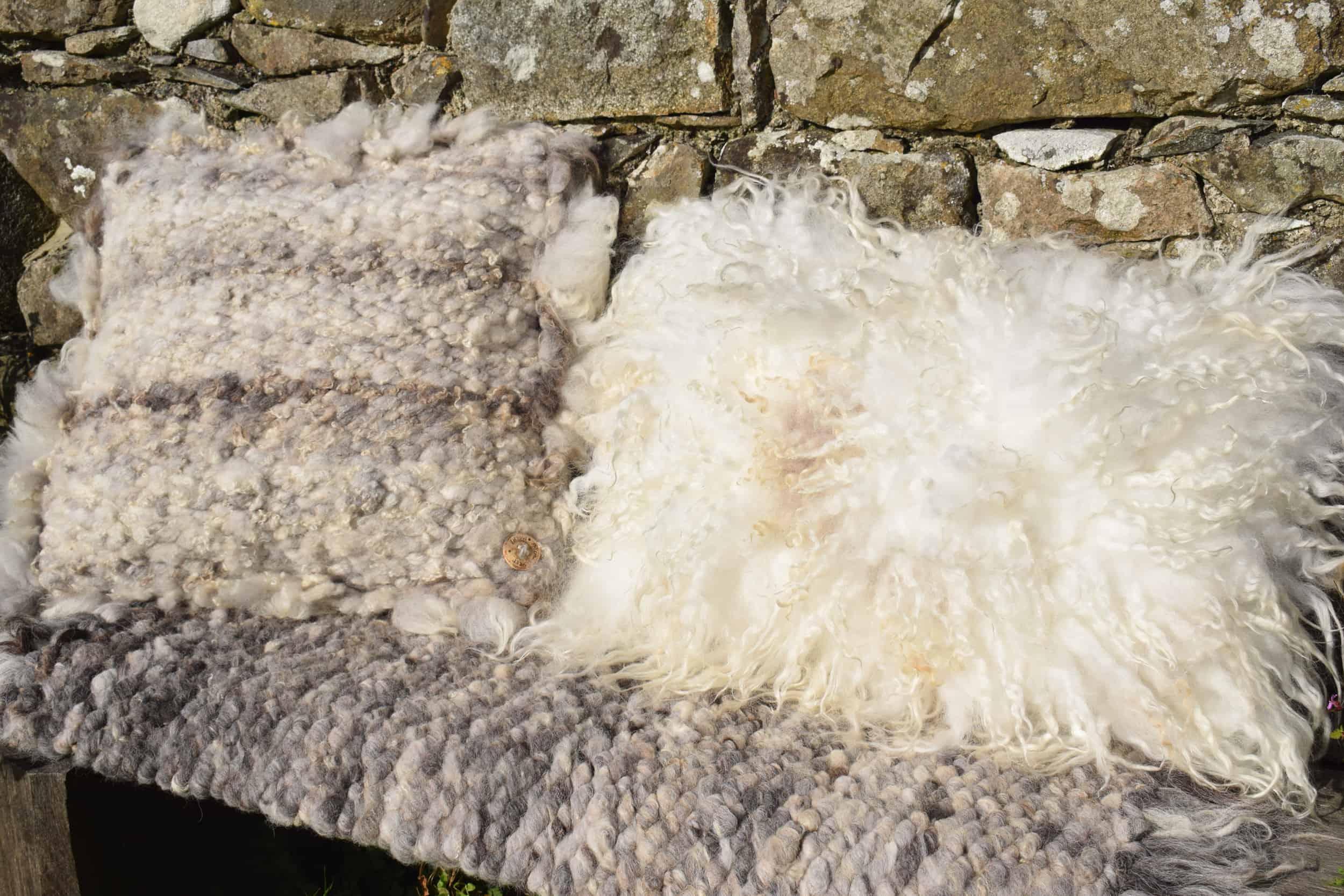 felted fleece pegloom cushion woven wool vegetarian sheepskin dotty icelandic cross