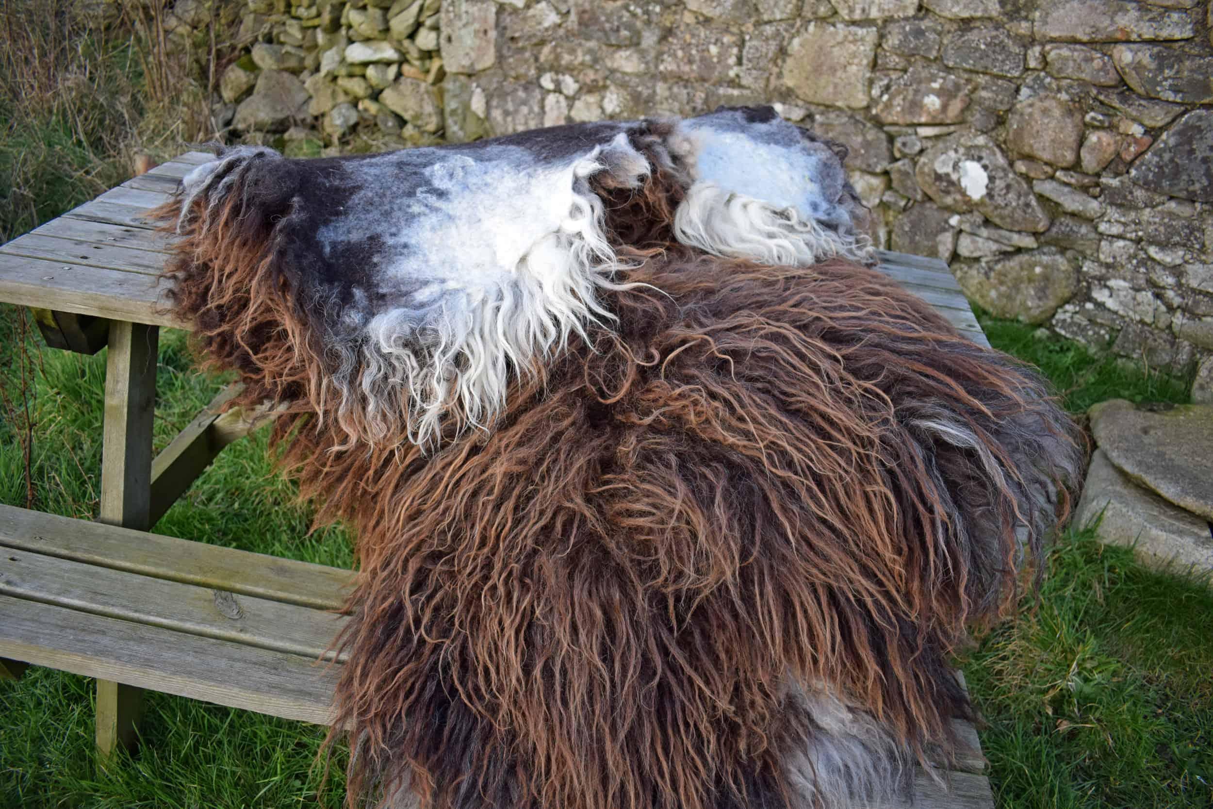 natural wool fleece rug