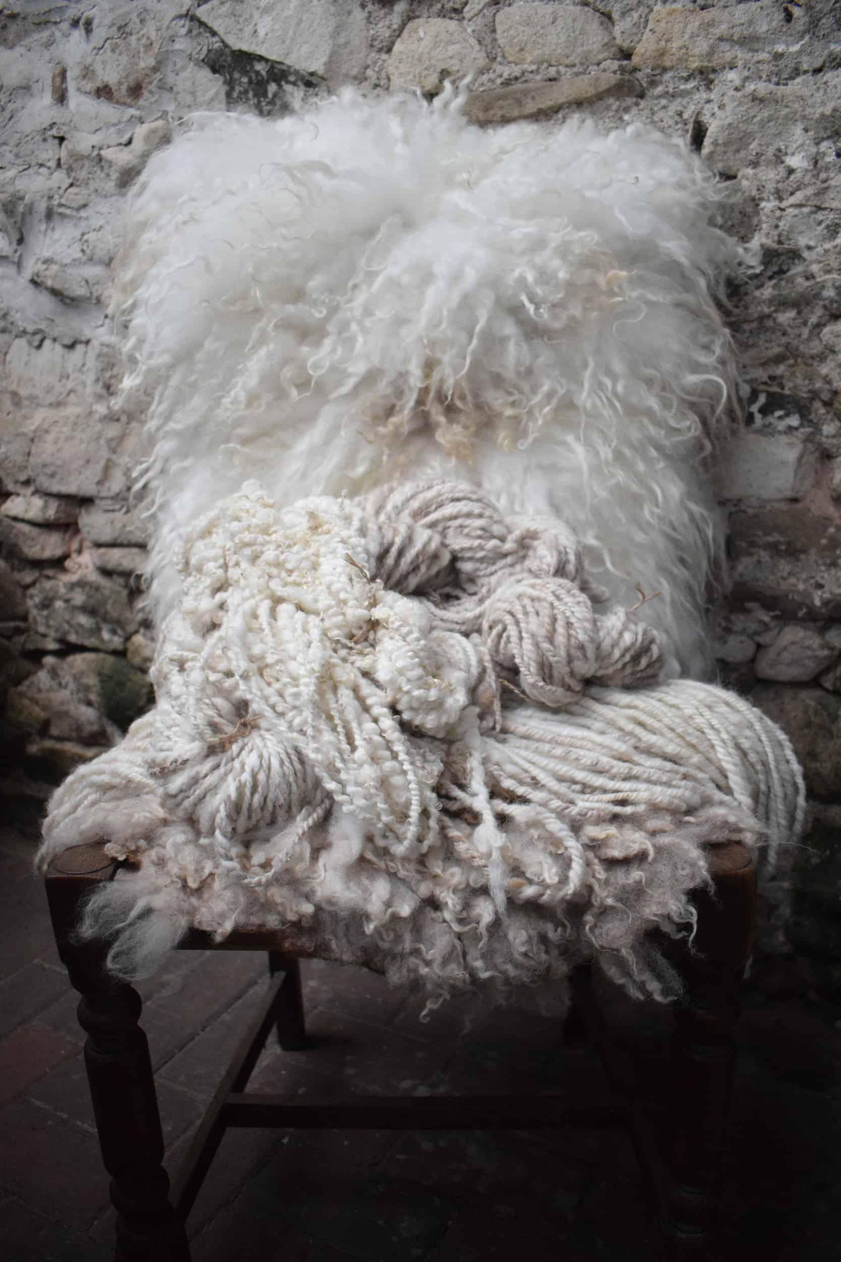 felted fleece handspun wool cushion woven wool vegetarian sheepskin dotty icelandic cross