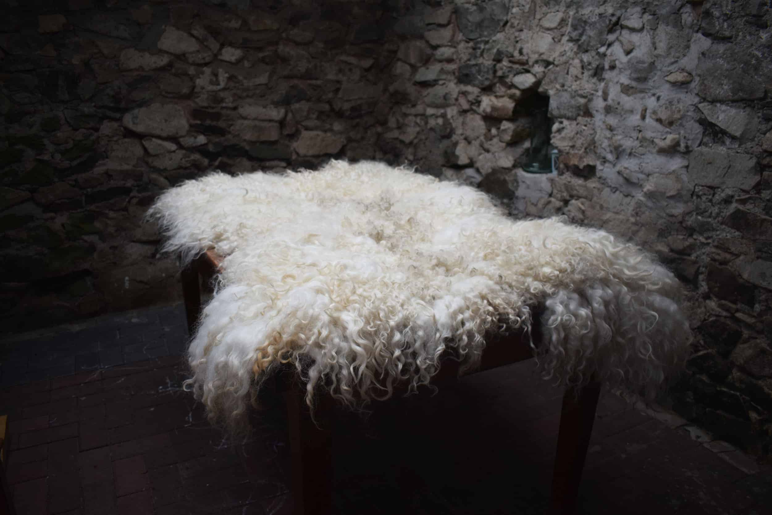 Doris rug felted sheepskin fleece rug