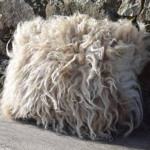 wild felted cushion wool