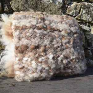 natural wool woven cushion