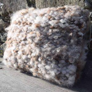 natural wool cushion