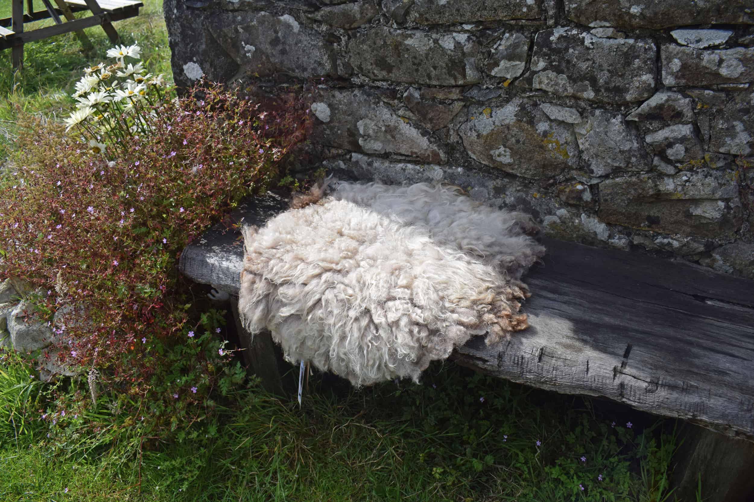 Felted fleece vegetarian sheepskin wool seat pad brown harriet ethical kind fiber 2