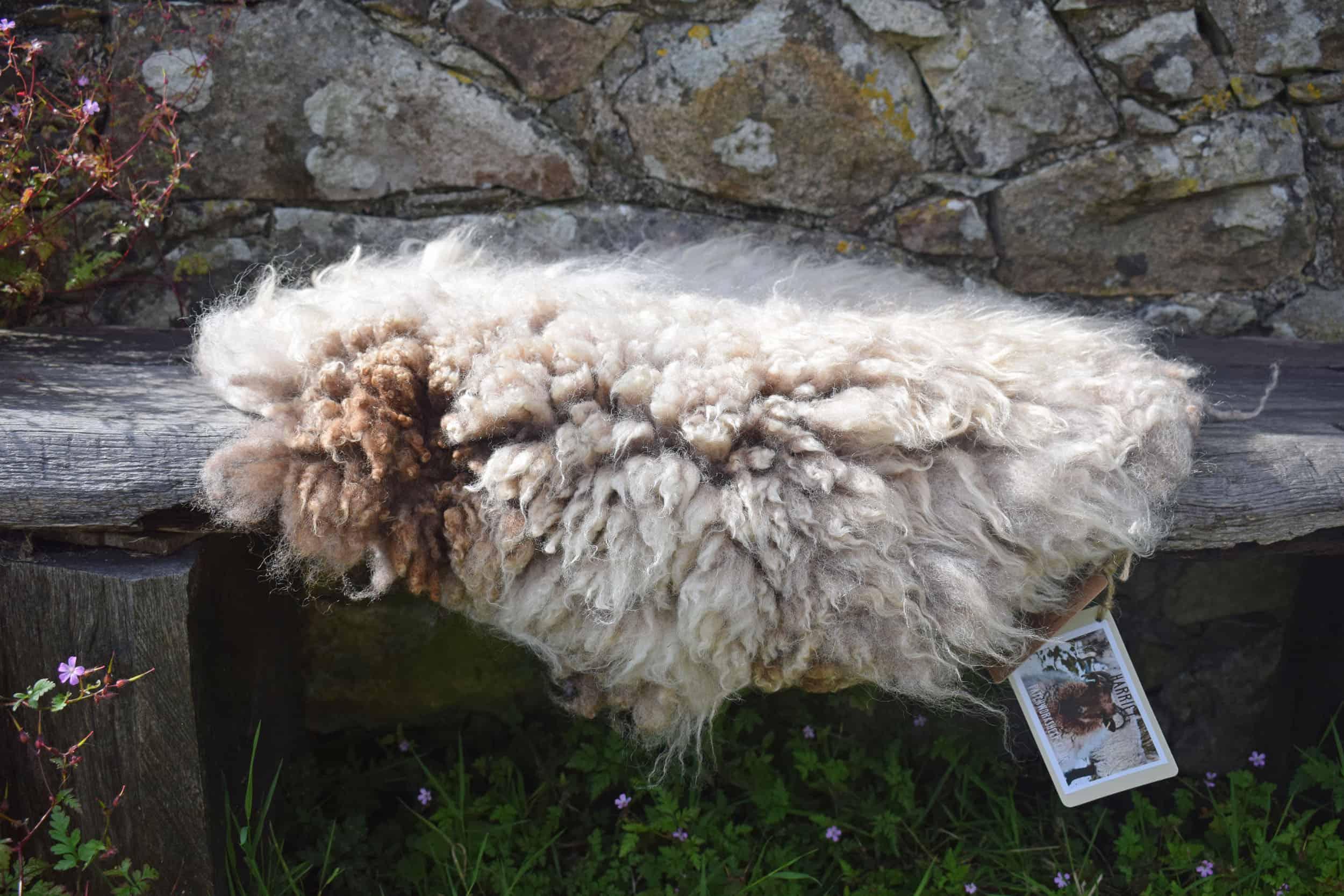 Felted fleece vegetarian sheepskin wool seat pad brown harriet ethical kind fiber 3