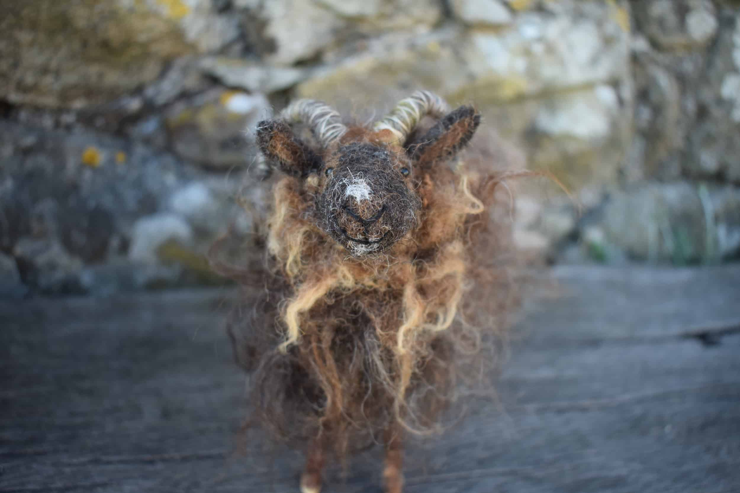 Magic mini needle felted sheep handmade woolsheep jacob cross shetland magical patchwork sheep