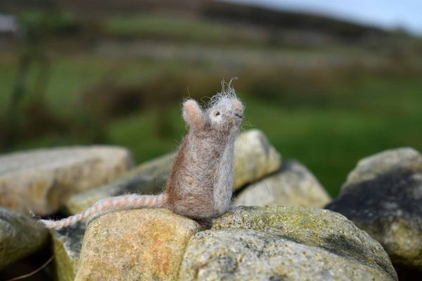cute felted wool mouse