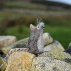 needle felted wool mouse