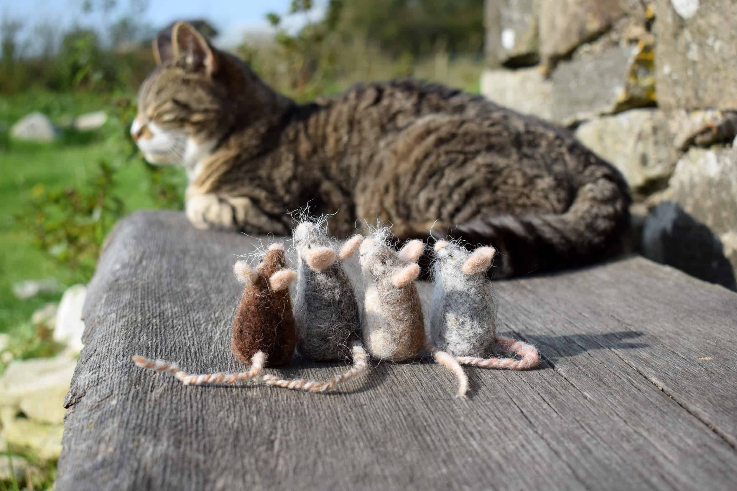 needle felt mice