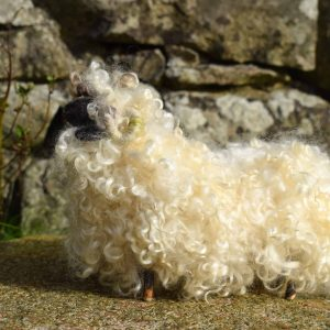 needle felted valais blacknose sheep