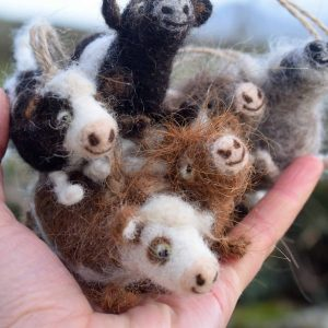 needle felted cow gifts