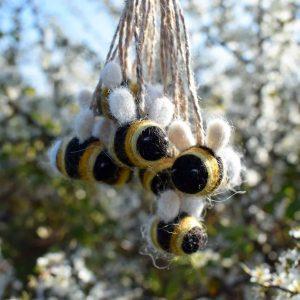 cute mini bumble bee decoration