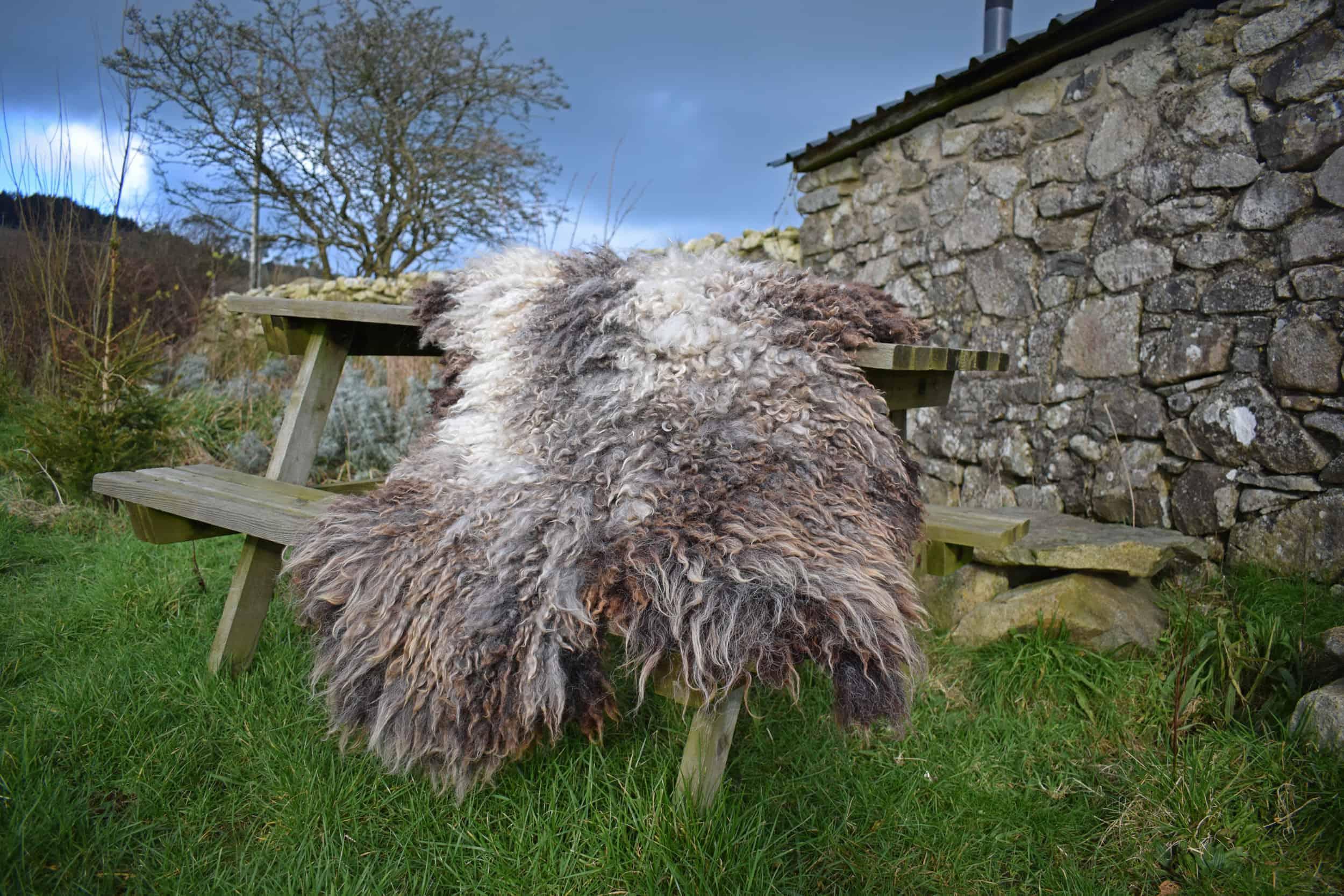 felted fleece sheepskin