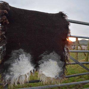 felted wool rug back