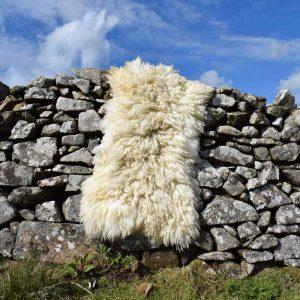 felted fleece wool rug luna