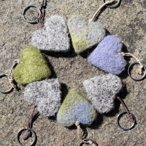 wool heart herdwick keyring heatheres