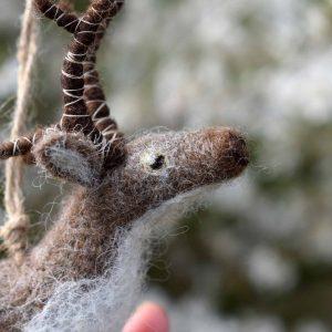 felted reindeer decoration