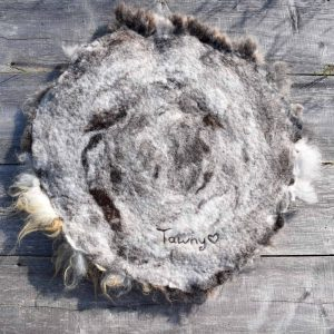 felted fleece seat cover