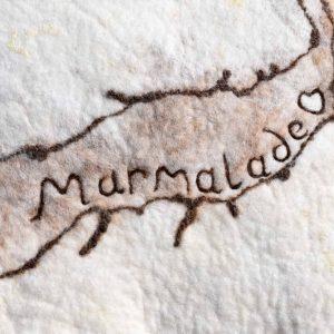 marmalade wool felt