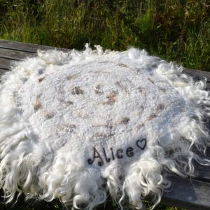 alice felted wool seat cover
