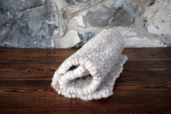 natural peg loom wool rug