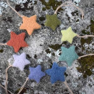 Felted Wool Star Decorations