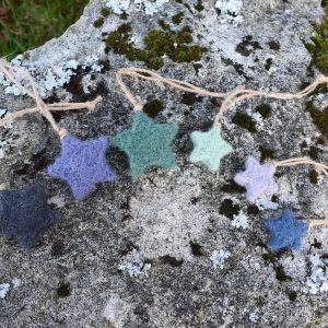 felted magic star decorations